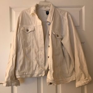 GAP white jean jacket